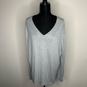 Michael Kors Gray V-Neck Sweater Plus Size 1X